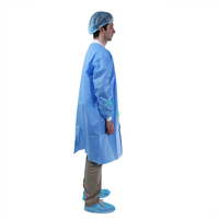 Blue High Quality Food Industry Barrier Lightweight Disposable Lab Coat