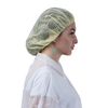 Cleanroom Food Service Hair Net Yellow Polypropylene Nonwoven Disposable Bouffant Cap