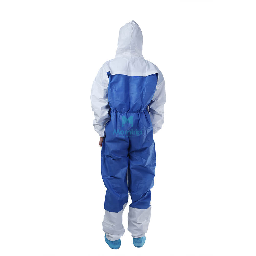 Microporous Coverall Combined With SMS Back Panel