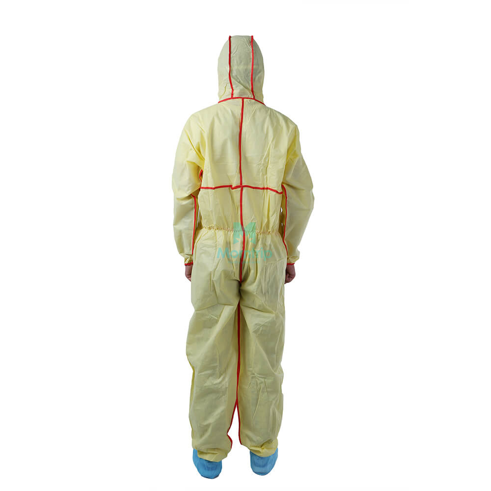 Liquid Resistant Overall Anti Static Dustproof Panting Spraying Nonwoven Protective Clothing for Industry Disposable