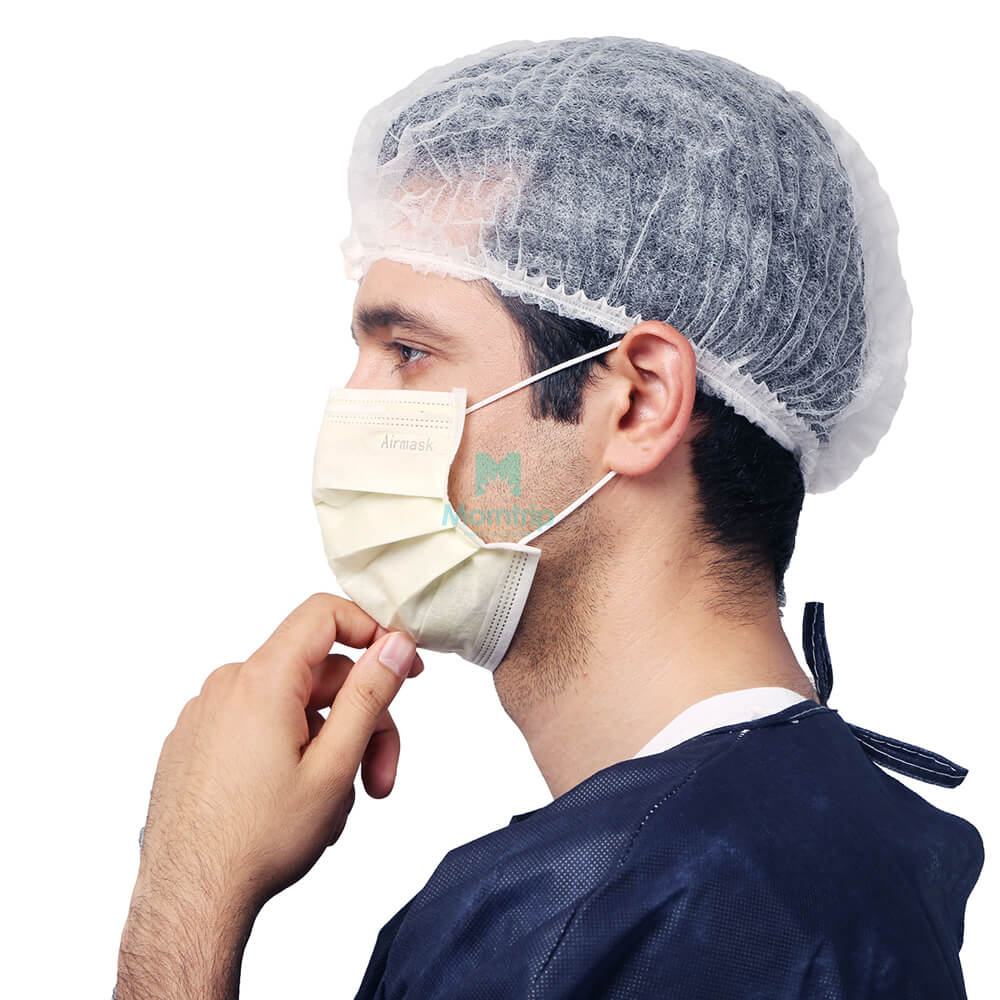 Hospital Factory Visitor Use Disposable Nonwoven Nurse Doctor Hairnet Mob Cap