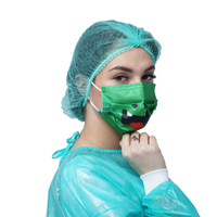 Pleated Hygiene Nurse Head Cover Scurb Medical Disposable Mob Cap for Laboratory