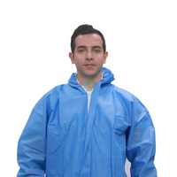 Morntrip Hotsale SMS Non Woven Fully Body Chemical Laminated Disposable Coverall
