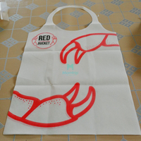 Paper Plastic Disposable Customized Dining Room Disposable Aprons