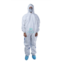 Microporous Combined with SMS Liquid Resistant Hooded Dustproof Splashproof Ce Certificated Type 6 Protective Clothing