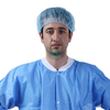 Polypropylene Medical Disposable Non Woven Pleated Blue Bouffant Caps for Hospital