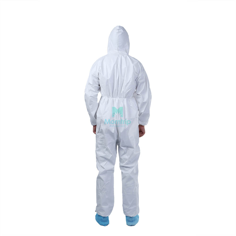 Microporous Breathable Custom Sterile Waterproof Chemical Splashproof Coveralls