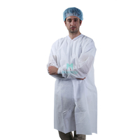 White Non Woven Lightweight Anti Static Barrier Disposable Science Lab Coat