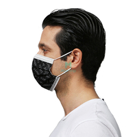 Black Wholesale Customized 3 Ply Medical Procedure Disposable Hypoallergenic Mask