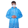 Disposable Elastic Wrist & Ankles Sealed SMS Protective Coverall with Shirt Collar
