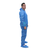 Blue Wholesale Non Woven Impervious Protective Disposable Coverall