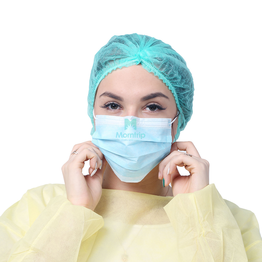 Morntrip Hot Sale 3 Ply High Quality Safety Non Woven Protective Disposable Face Mask