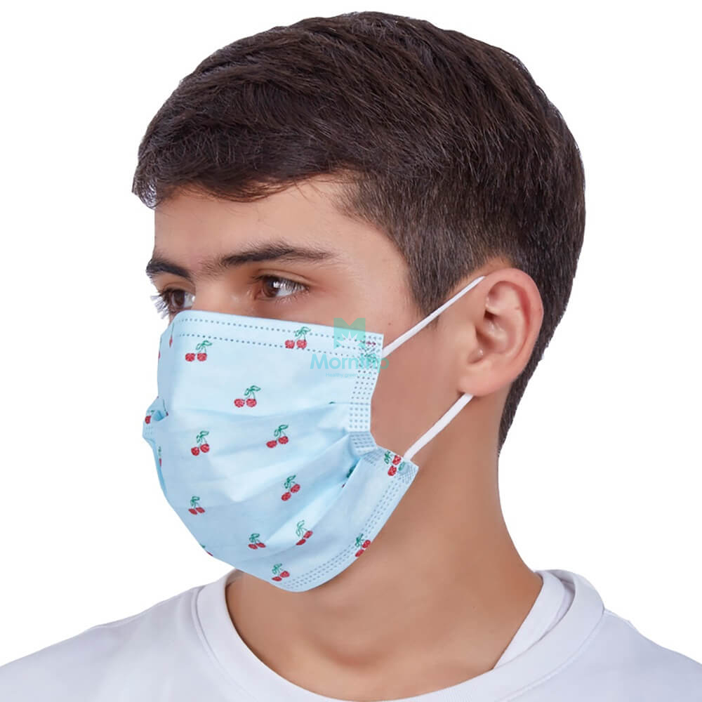 Earloop Pleated 3 Ply Non Woven Anti Pollen Dust Droplets Bacterial Germ Virus Hygienic Sanitary Procedure Medical Custom Disposable Face Mask