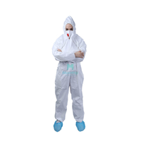 Panting Spraying Full Body Work Wear Anti Static Nonwoven Coverall Protective Clothing for Industry Food