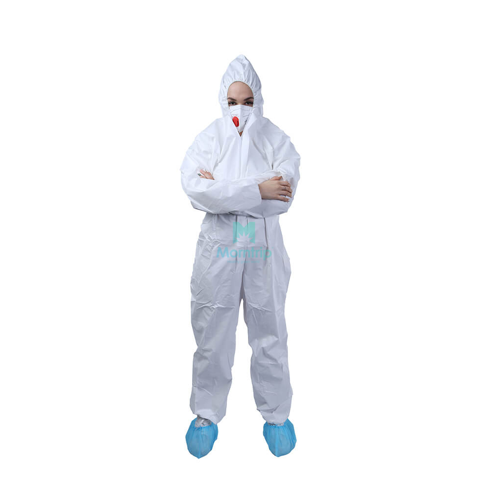 Disposable Work Wear Anti Static Dustproof Panting Spraying Full Body for Industry Food Isolation Protective Clothing