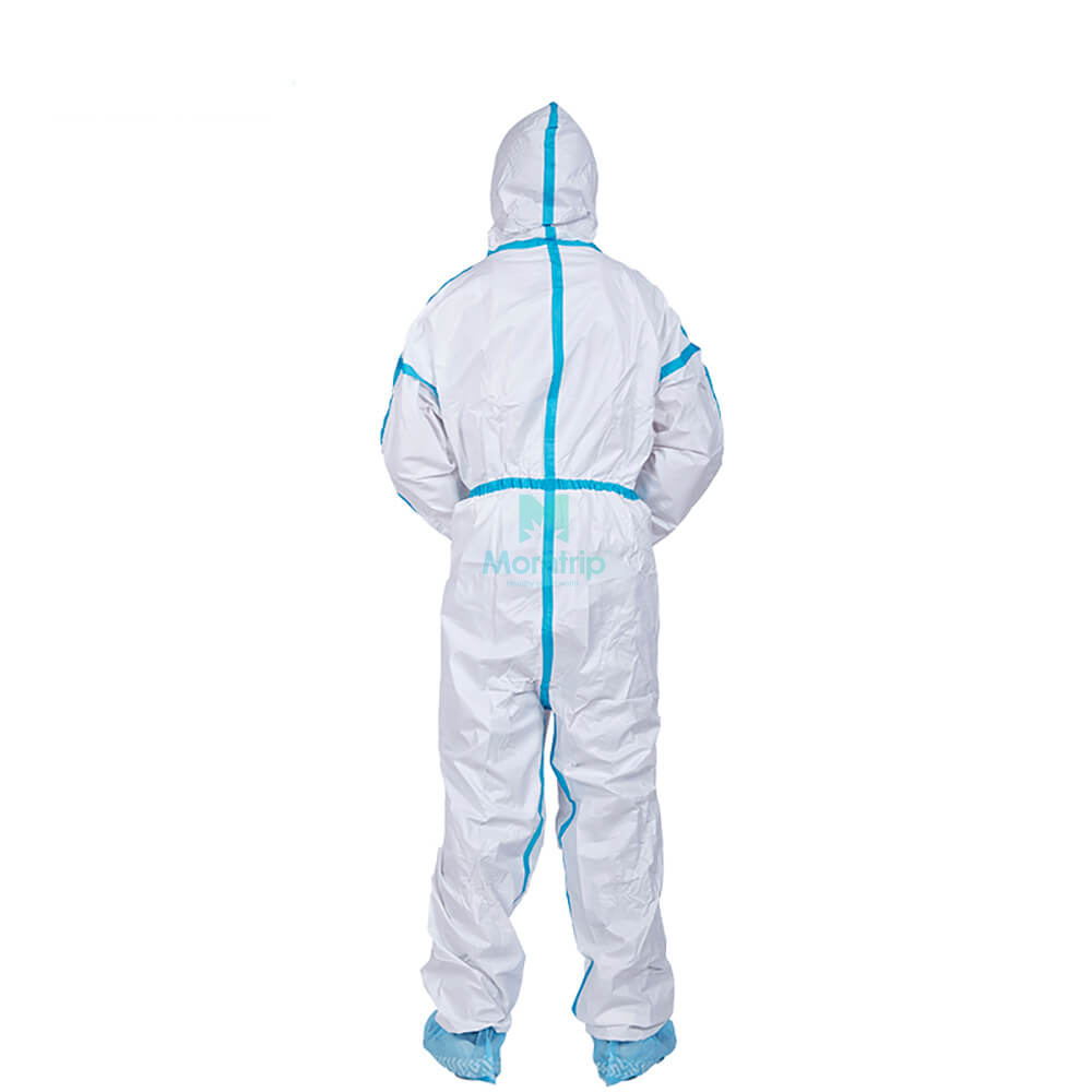 Anti Bacterial Overall Suit Industry Breathable Light Weight Anti Static Dustproof Isolation Protective Clothing