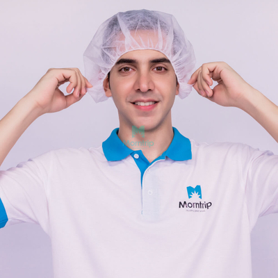 Hospital Use Medical Head Cover Hats Disposable Surgical Scrub Bouffant Caps