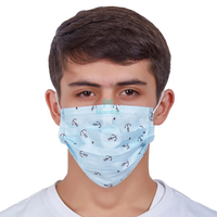 Non Woven Type 2 Protective Anti Droplets 3 Ply Disposable Hypoallergenic Medical Procedure Face Mask with Custom Logo
