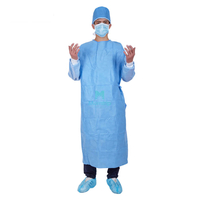 Morntrip Isolation Insulation Non Woven SMS Sanitary Barrier Disposable Surgery Gown with Knitted Cuffs