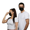 Black 4 Ply Non Woven Civil Use Disposable Protective Earloop Face Mask
