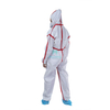 Morntrip Isolation Jumpsuit Non Woven Chemical Industrial Dust Proof Lightweight Disposable Hooded Protective Coverall