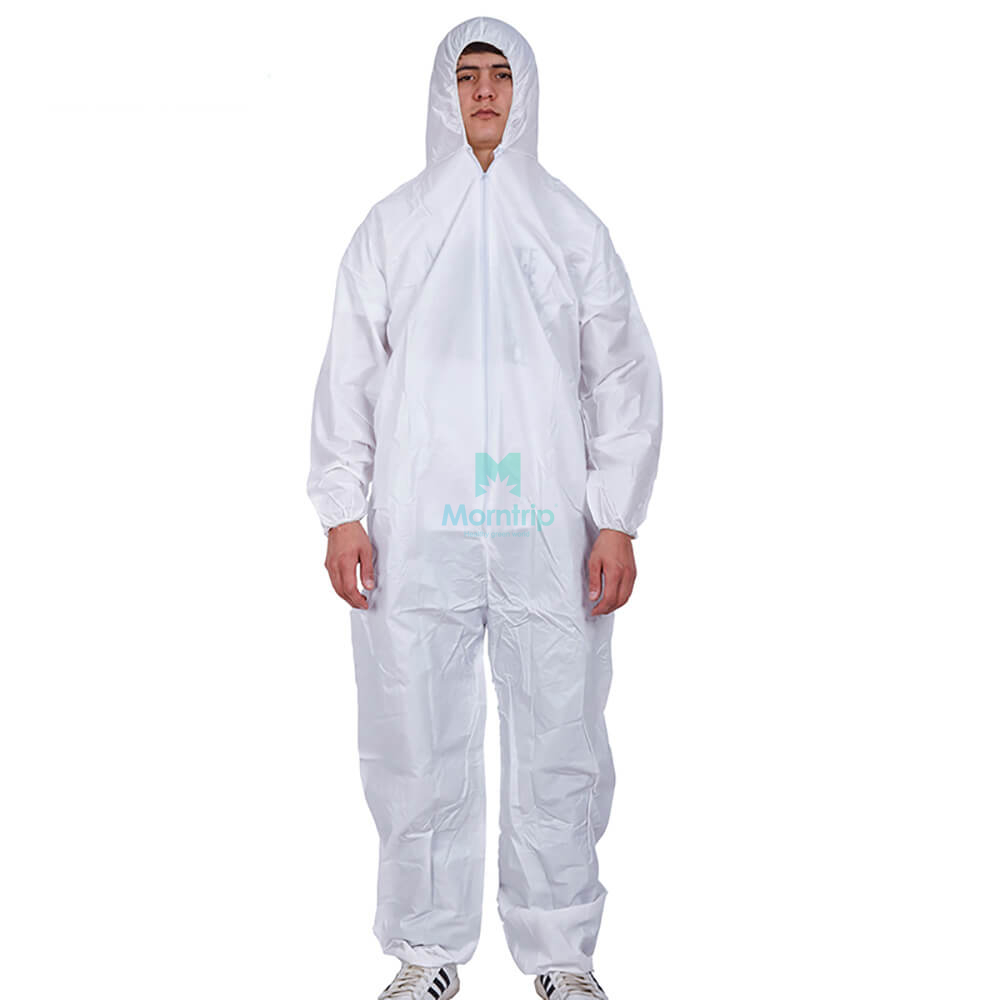 Comfortable Type 5 6 Anti Static Dustproof Panting Spraying Liquid Resistant for Industry Food Chemical Coverall Clothing