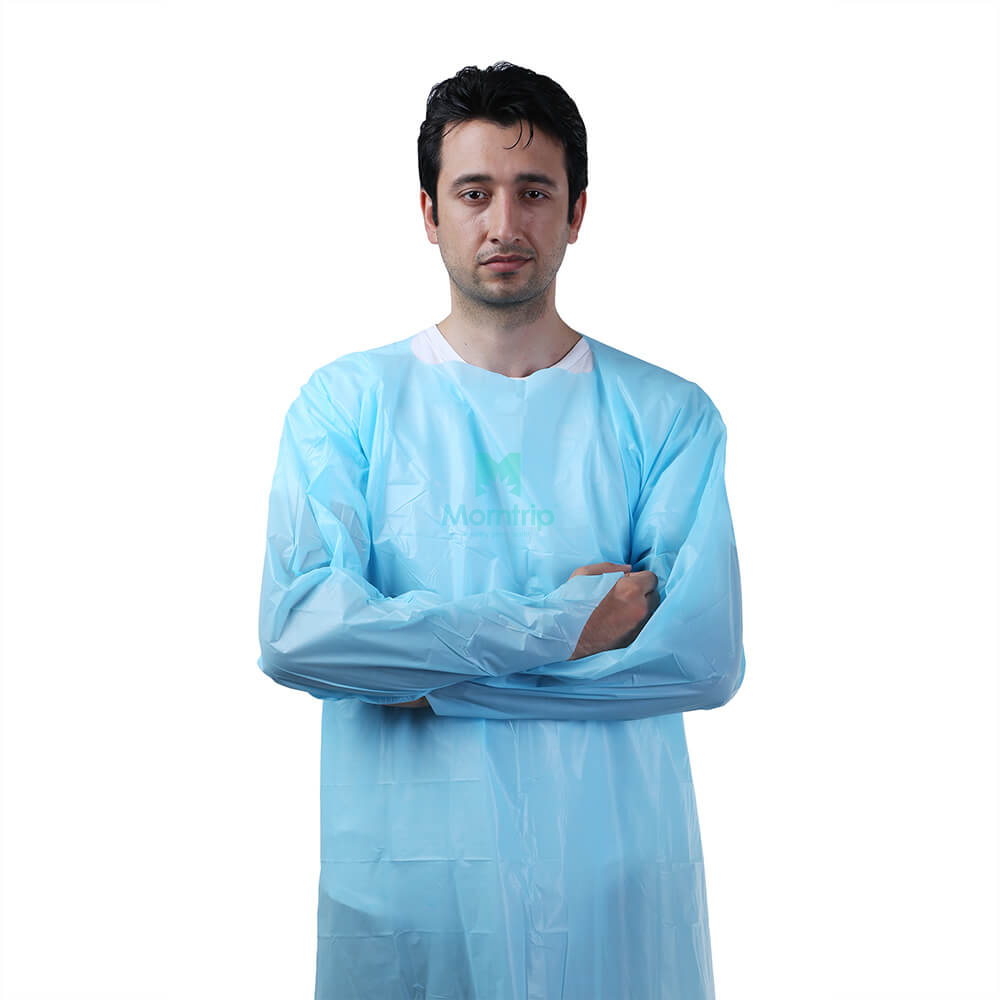 Disposable Isolation CPE Gown for Cleaning Room