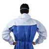 Microporous Combined with SMS Breathable Type 5 6 Hooded Dustproof Work Wear Disposable Clothing Suit