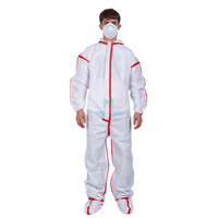 Comfortable Disposable Protective Clothing Suit with Taped Seams for Medical