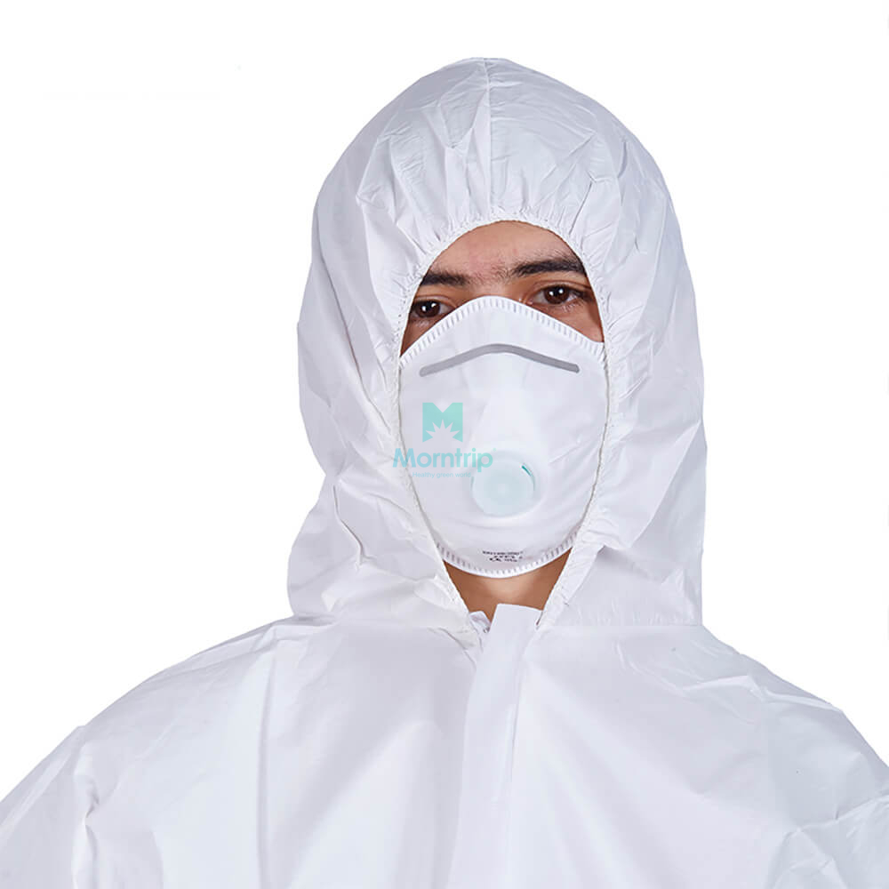 Type 5 6 50 GSM Ce Certificated Splashproof Overall Suit Breathable Microporous Disposable Protective Clothing